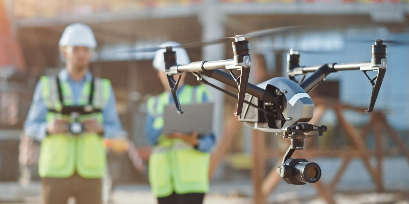 Drone on Construction Site